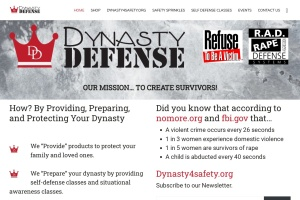 Screenshot of dynastydefense.com