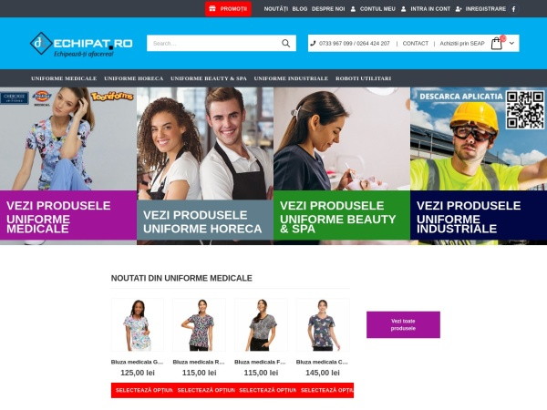 Screenshot of echipat.ro