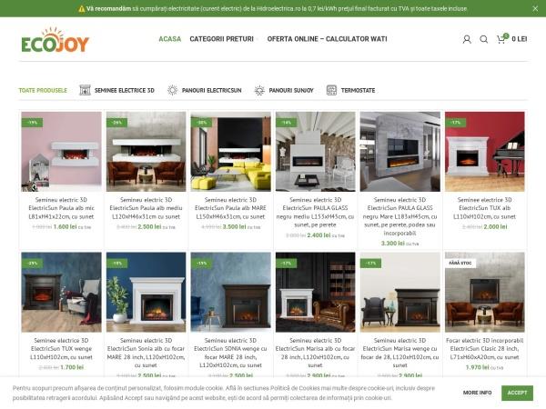 Screenshot of ecojoy.ro