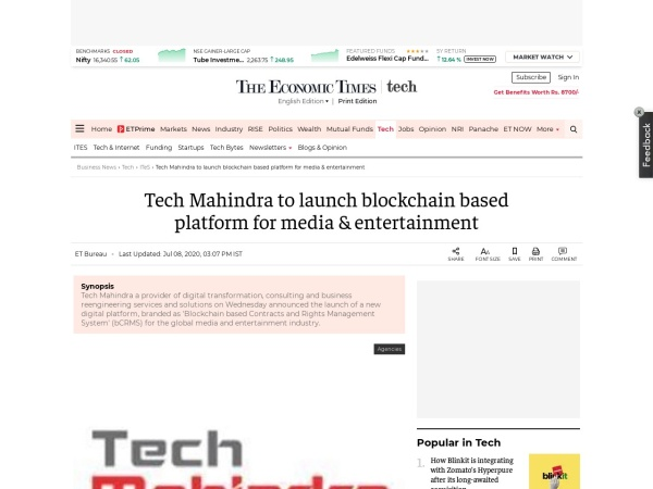 Screenshot of economictimes.indiatimes.com