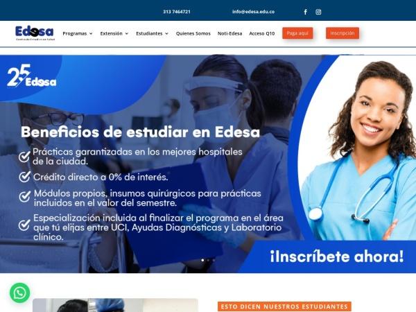 Captura de pantalla de edesa.edu.co