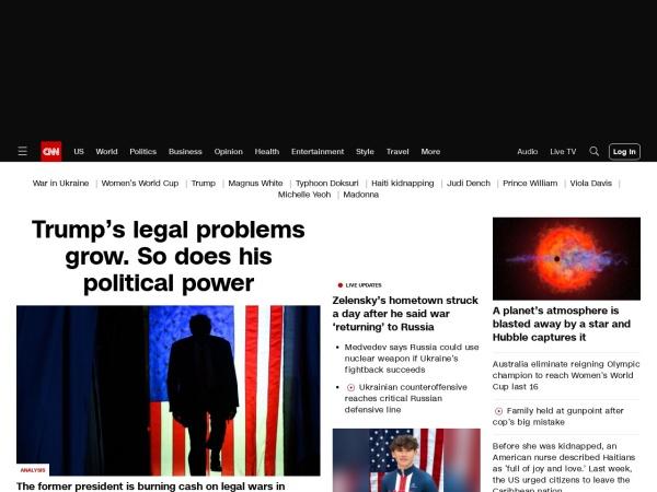 Screenshot of edition.cnn.com