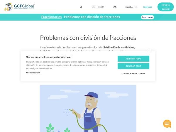 Captura de pantalla de edu.gcfglobal.org