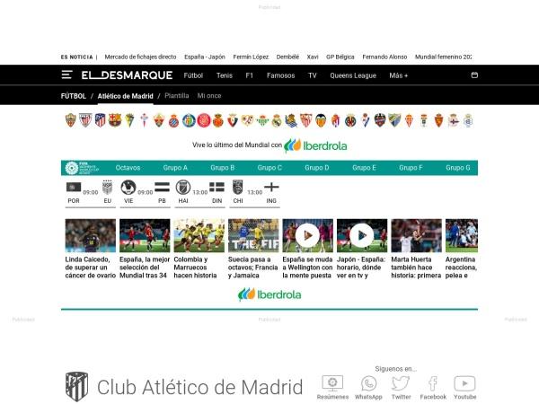 Captura de pantalla de eldesmarque.com