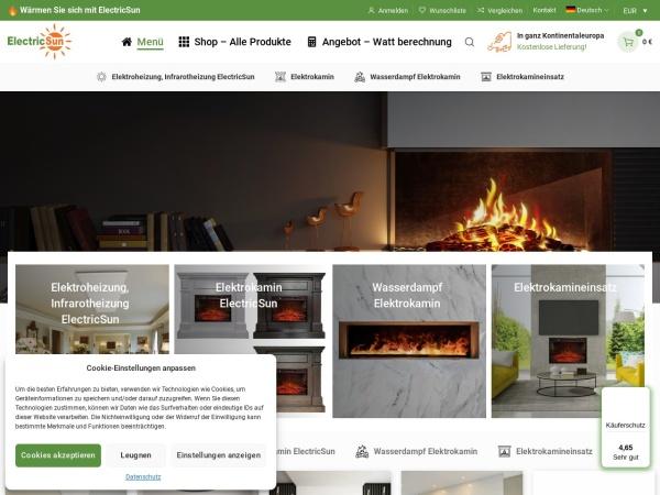 Screenshot of electricsun.de