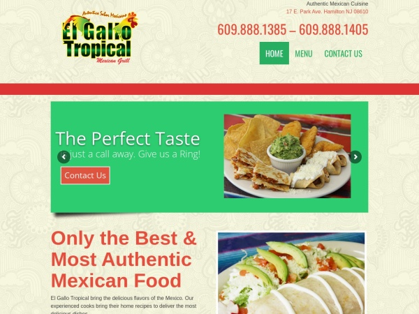 Screenshot of elgallotropical.com
