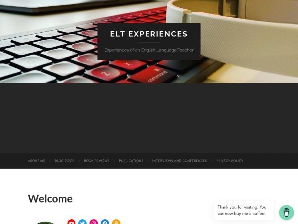Screenshot of eltexperiences.com