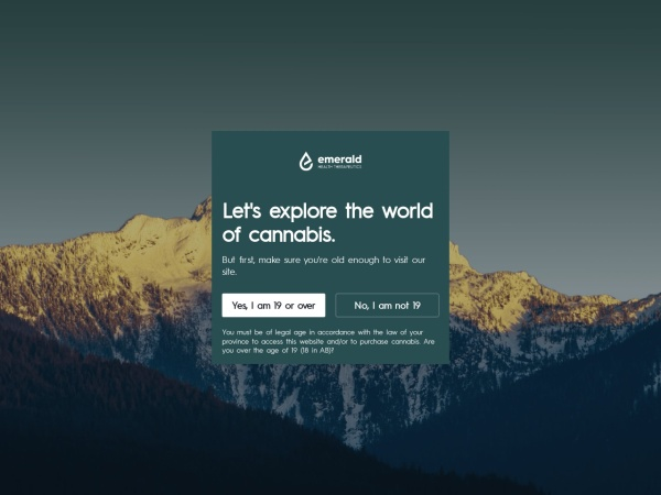 Screenshot of emeraldhealth.ca