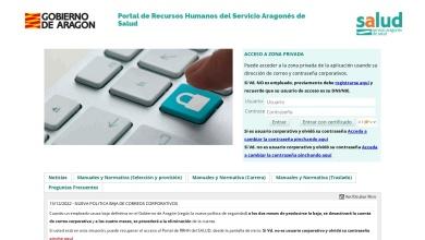 Portal de Recursos Humanos del Servicio Aragonés de Salud