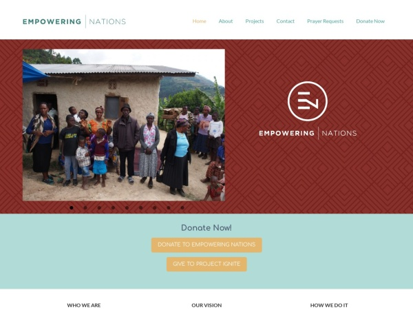 Screenshot of empoweringnations.org