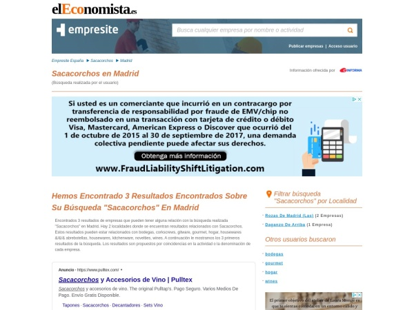 Captura de pantalla de empresite.eleconomista.es