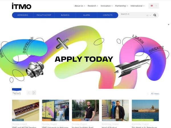 Screenshot of en.itmo.ru