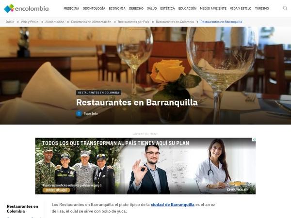 Captura de pantalla de encolombia.com