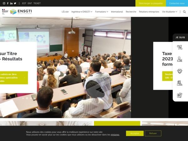 Screenshot of ensgti.univ-pau.fr