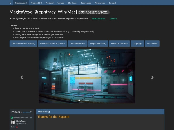 Screenshot of ephtracy.github.io