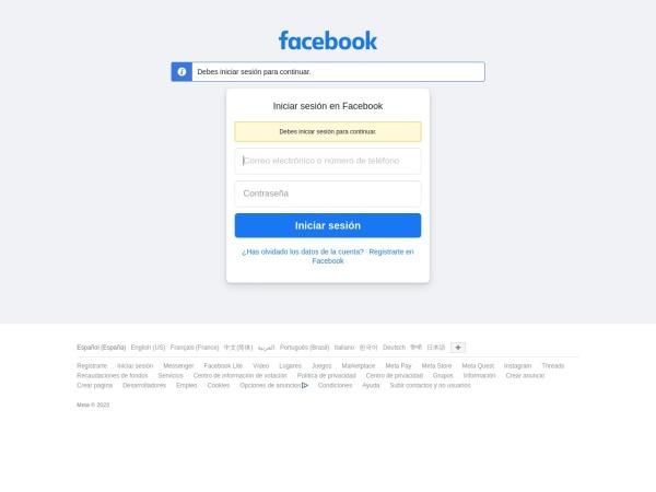 Captura de pantalla de es-es.facebook.com