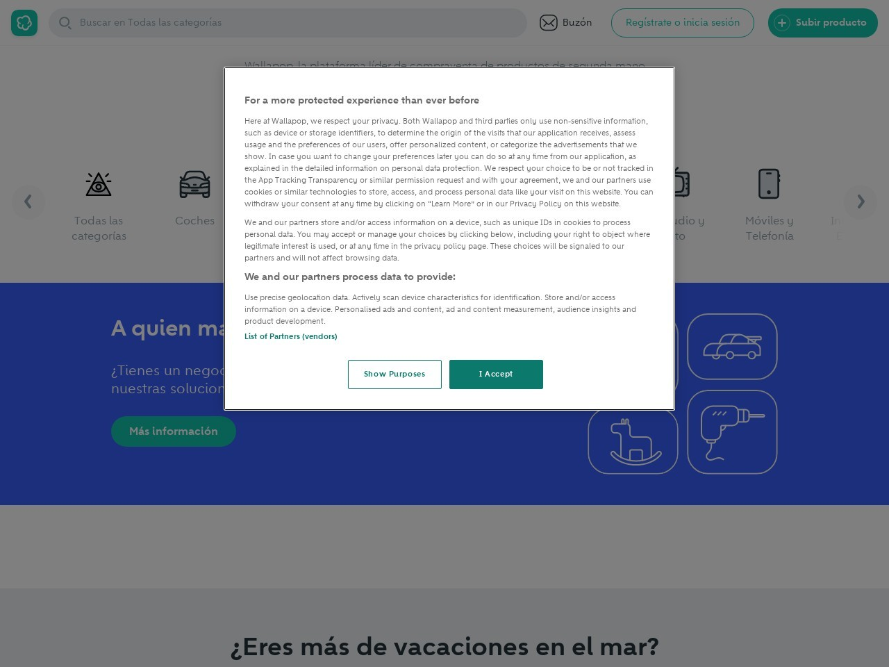 Captura de pantalla de es.wallapop.com