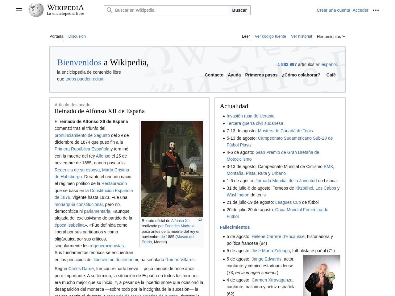 Captura de pantalla de es.wikipedia.org