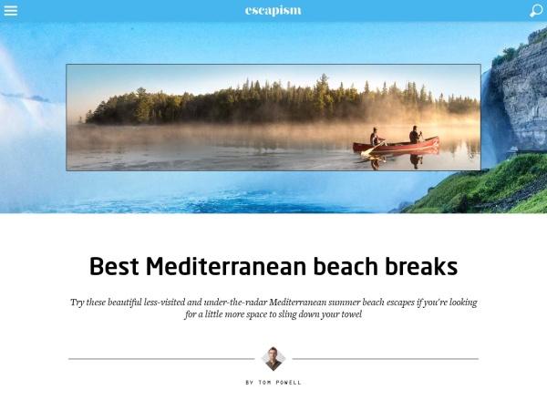 Screenshot of escapismmagazine.com