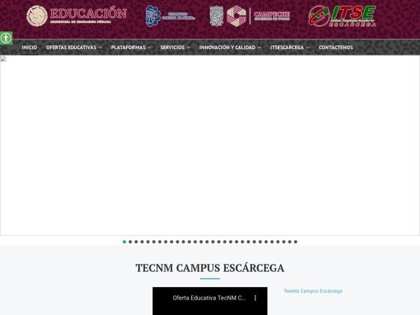 Screenshot of escarcega.tecnm.mx