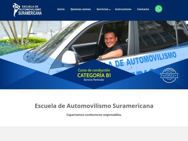 Captura de pantalla de escuelasuramericanacali.com