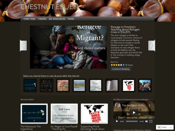 Screenshot of eslchestnut.com