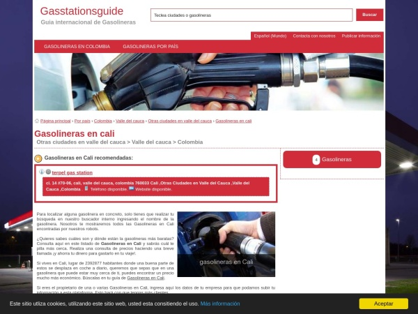 Captura de pantalla de esp.gasstationsguide.com