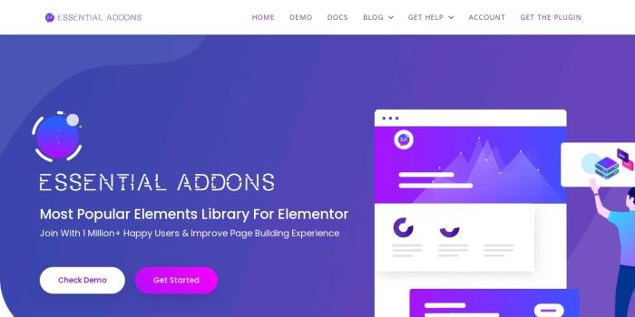 Screenshot of essential-addons.com