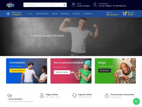 Captura de pantalla de estampadosiberia.com