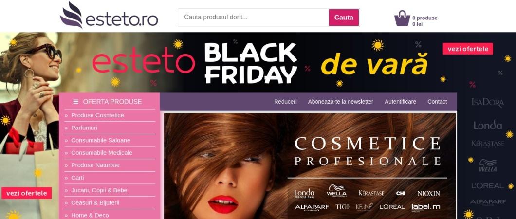 Screenshot of esteto.ro