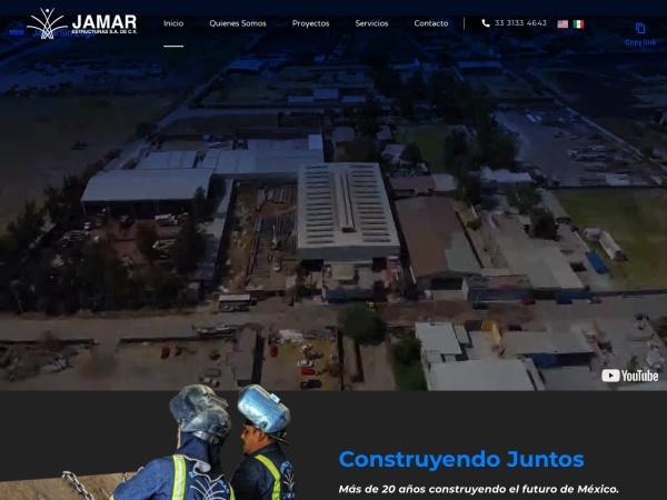 Captura de pantalla de estructurasjamar.com.mx
