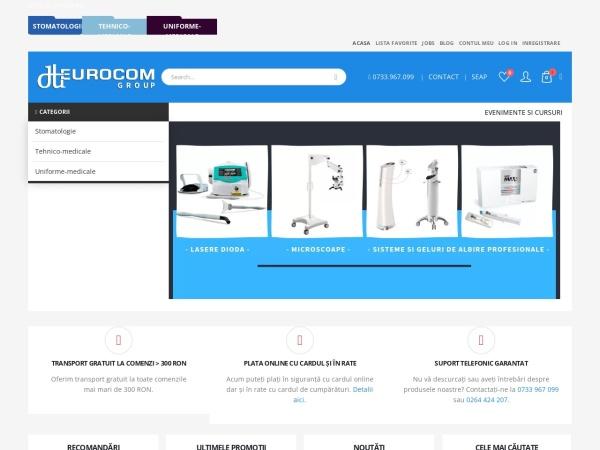 Screenshot of eurocomgroup.ro