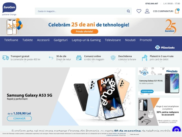 Screenshot of eurogsm.ro