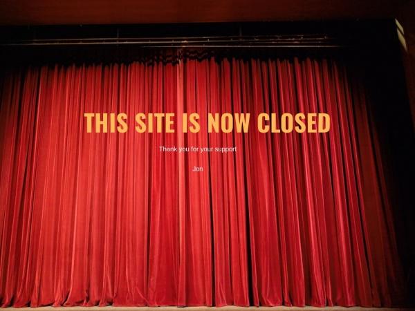 Screenshot of events.jonconway.co.uk