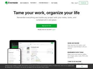 Screenshot of evernote.com