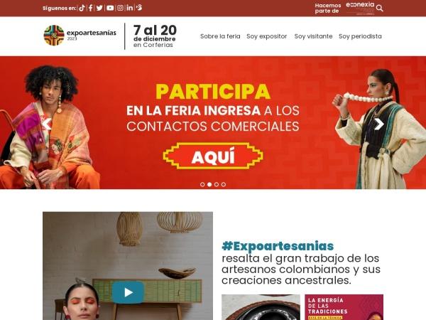 Captura de pantalla de expoartesanias.com