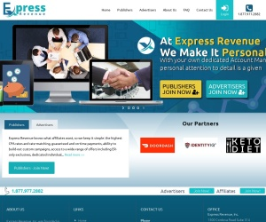 Screenshot of expressrevenue.com