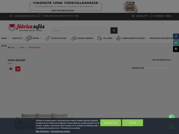 Captura de pantalla de fabricasofas.es
