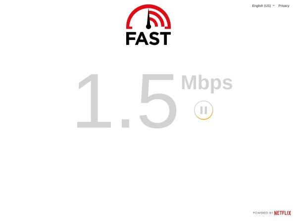 Screenshot of fast.com