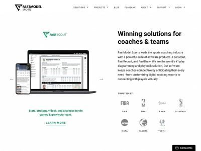 Screenshot of fastmodelsports.com