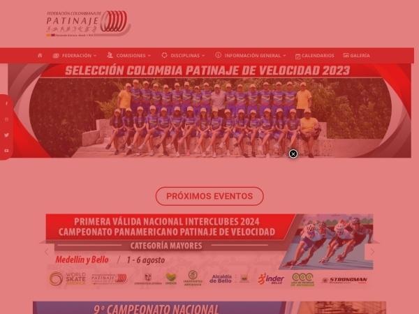 Captura de pantalla de fedepatin.org.co