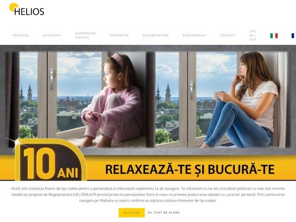 Screenshot of ferestrehelios.ro