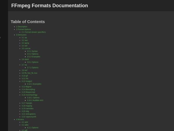 https://ffmpeg.org/ffmpeg-formats.html