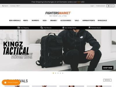 Screenshot of fightersmarket.com
