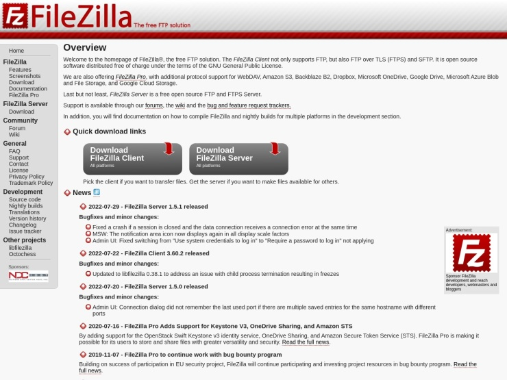https://filezilla-project.org/