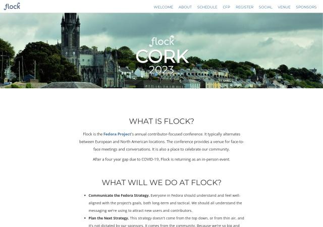 Screenshot of flocktofedora.org