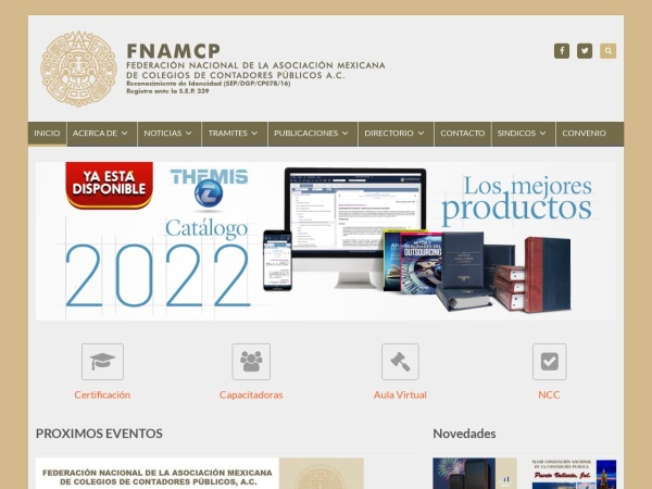 Captura de pantalla de fnamcp.org