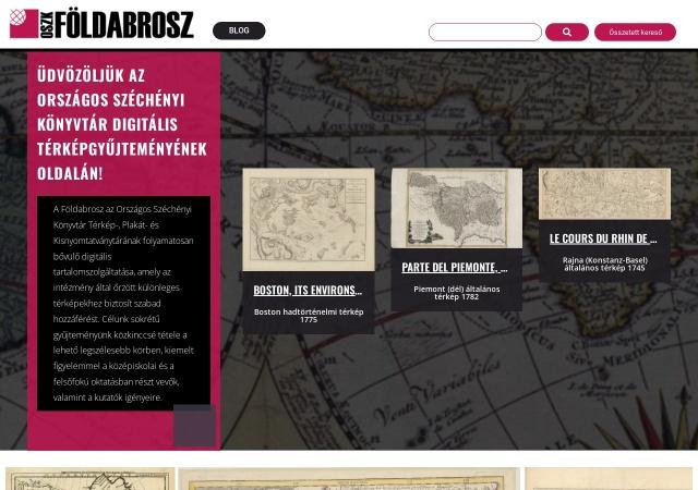 Screenshot of foldabrosz.oszk.hu