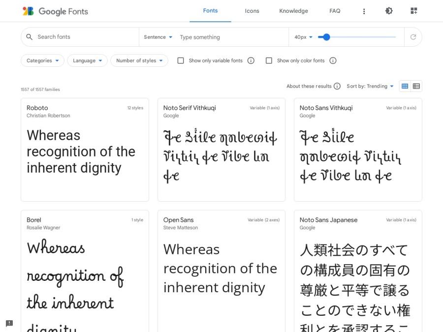 https://fonts.google.com