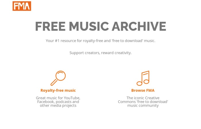 Captura de pantalla de freemusicarchive.org